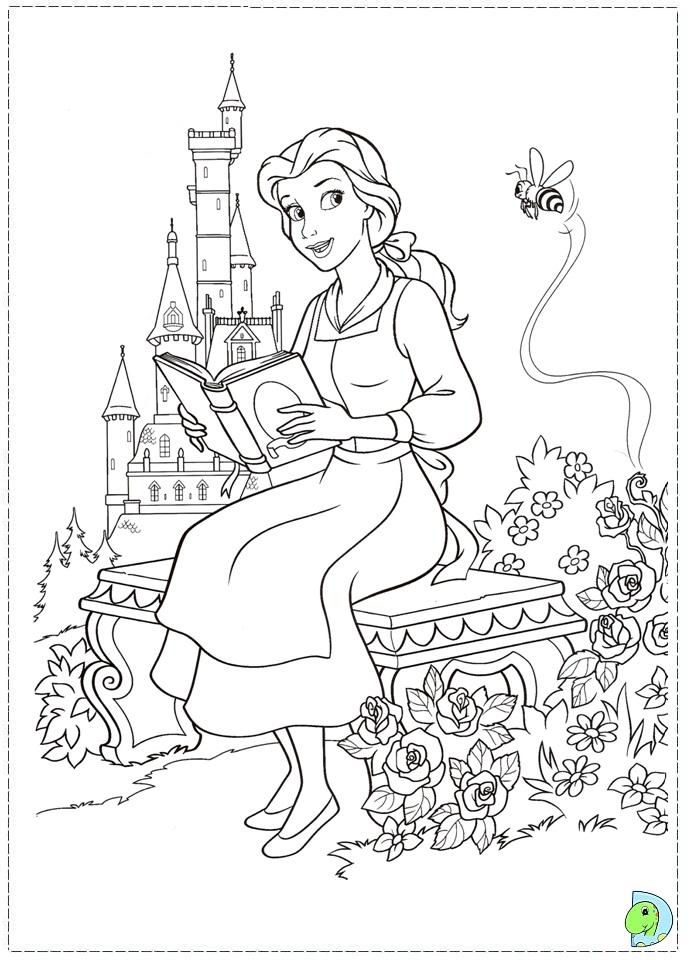 La Bella y la Bestia de Disney - Blog: Dibujos para colorear ...