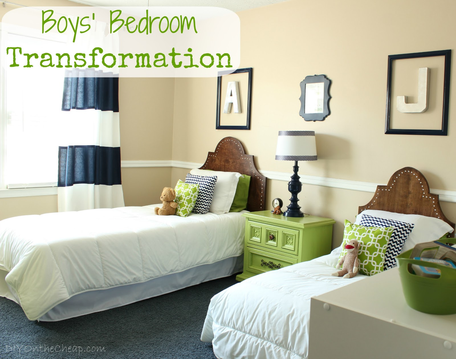 Big boy room transformation reveal erin spain for Boys bedroom designs