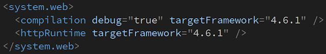 .net framework targetFramework