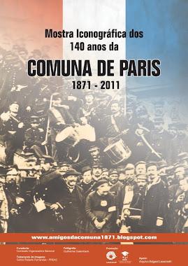Banner da Mostra Iconográfica dos 140 anos da Comuna de Paris