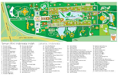Peta Taman Mini Indonesia Indah