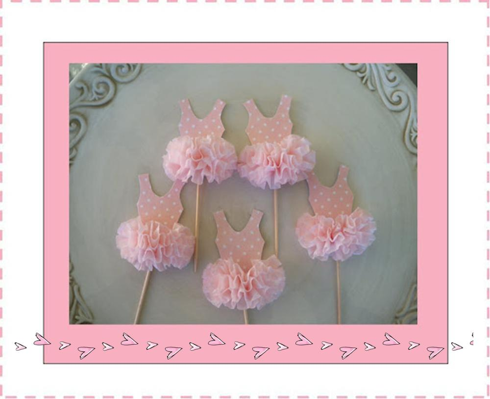 It 39 s written on the wall pinkalicious or ballerina for Ballerina party decoration