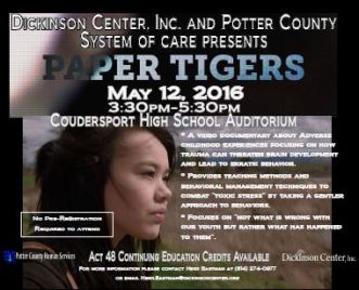 5-12 Paper Tigers @Coudersport High School Aud.