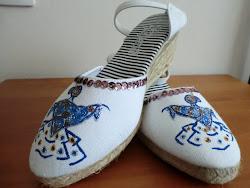 Zapatillas gitana mantón