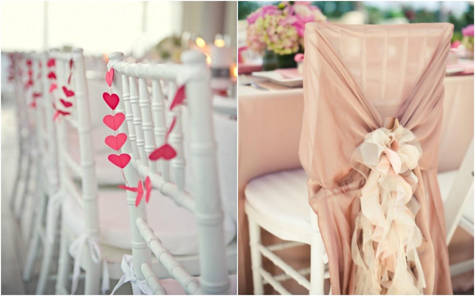 Decoramos las sillas del banquete a todo confetti for Sillas para novios en la iglesia