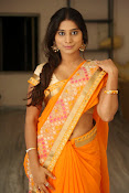 Midhuna New photo session in Saree-thumbnail-1