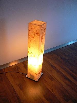 decor luminaire en pierre