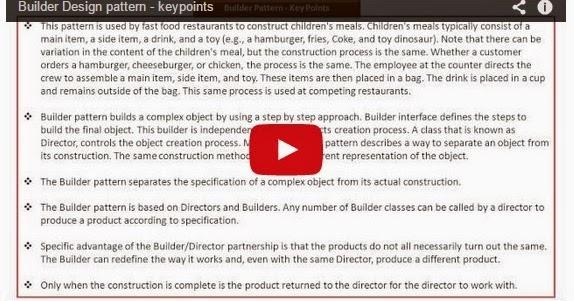Java ee builder design pattern keypoints for Object pool design pattern java