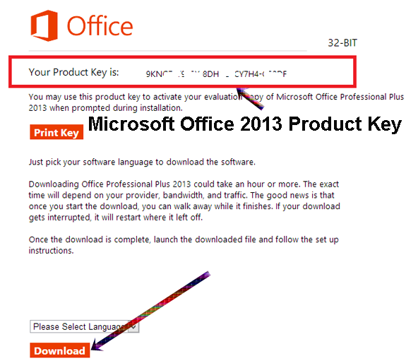 how to find the product key for office
