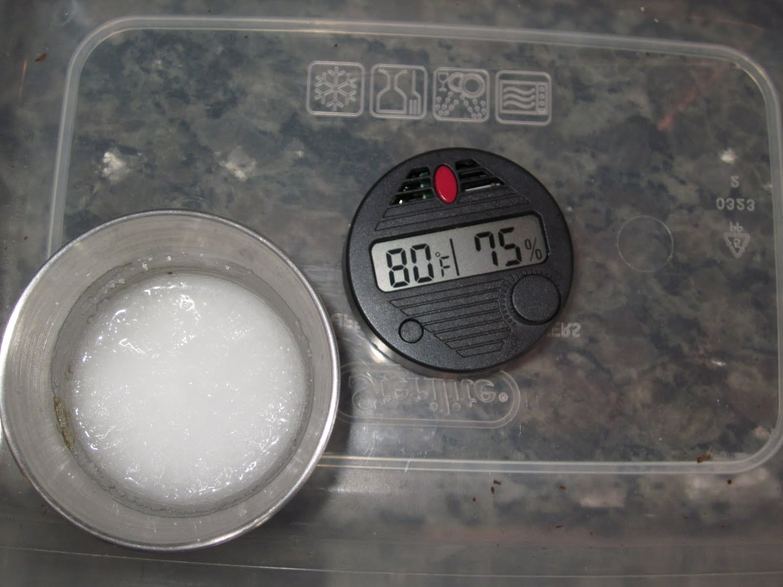 Step Four The hygrometer should read 75% humidity. If it reads  #594E4C