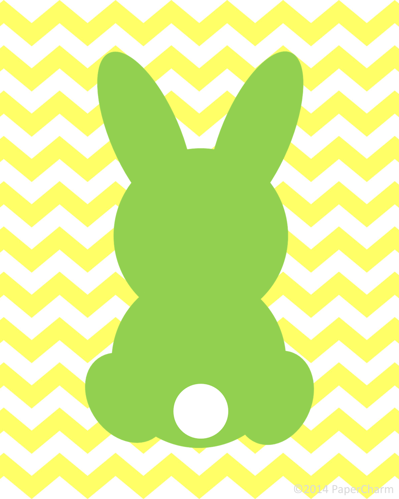 Free Bunny Silhouette Easter Printable Art by PaperCharm