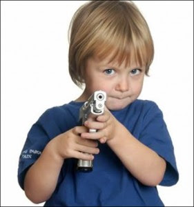 Child with pistol