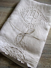 French monogrammed linen