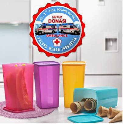Tupperware Tall Square Round (4)