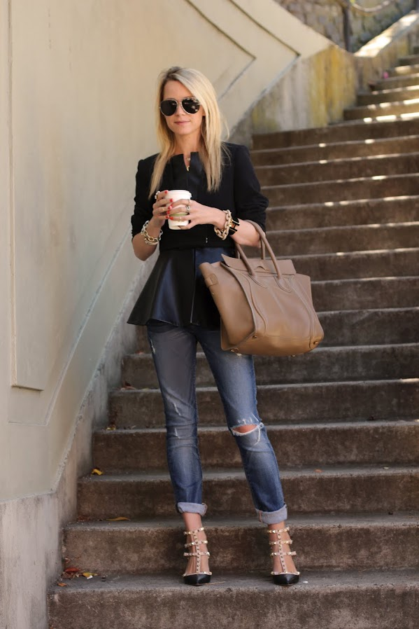 atlantic pacific peplum black denim valentino shoes celine