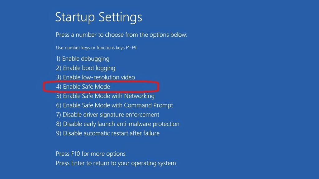 cara masuk ke menu safe mode windows 8