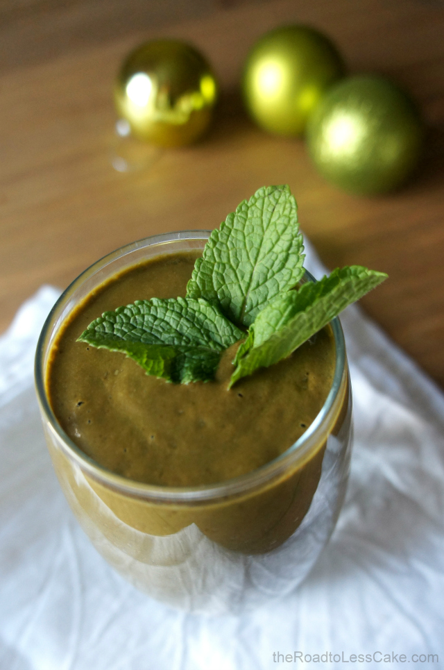 The Road To Less Cake: Chocolate peppermint green smoothie