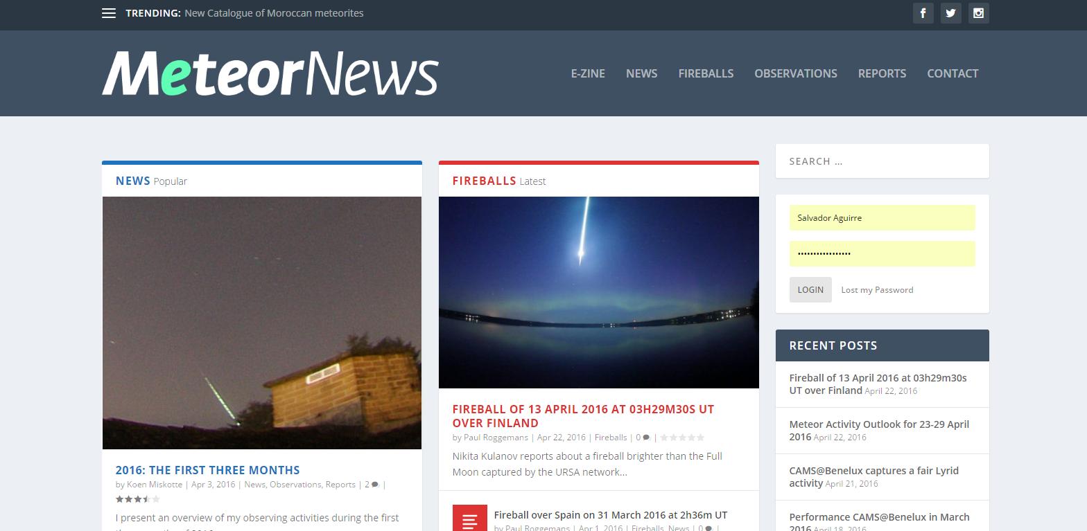 Meteor News