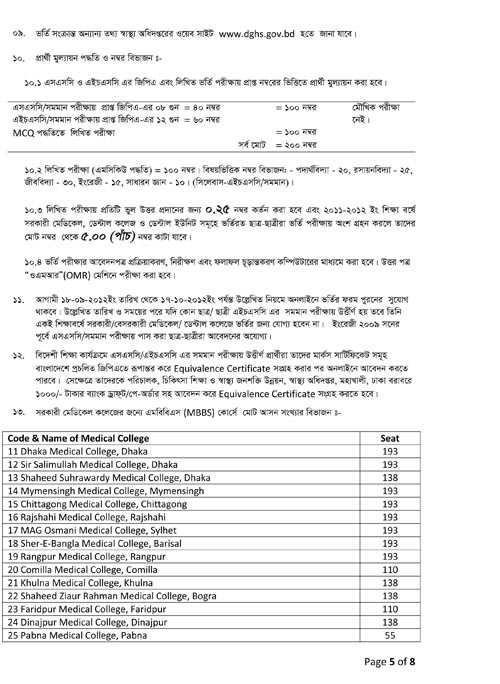 Instruction to Online Application MBBS BD 2012-2013 Page-2
