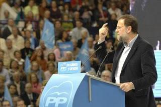 Mariano Rajoy durante un mitin de la campaña de noviembre 2011