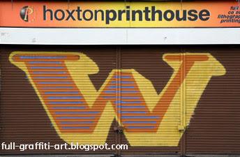 Graffiti Alphabet Letter W