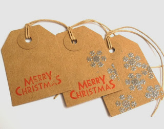 Stamped Tags with Embossed Snowflakes