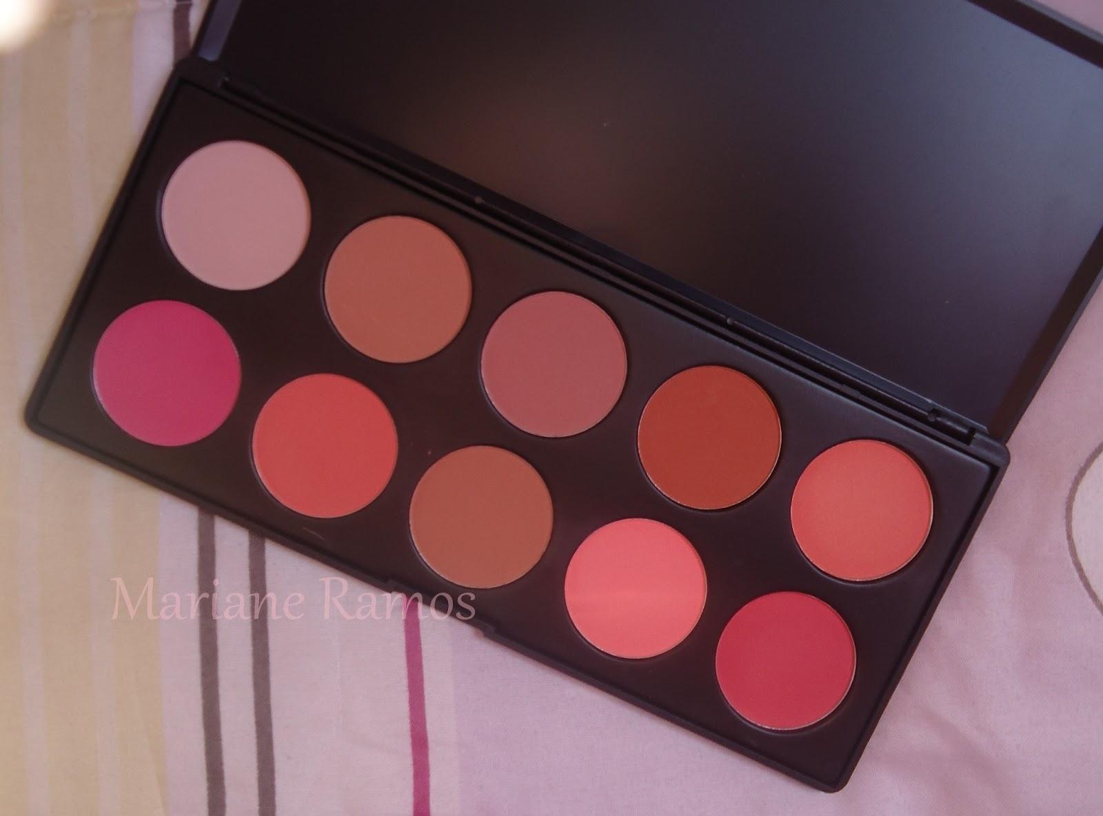 paleta de 10 blushes modelo B