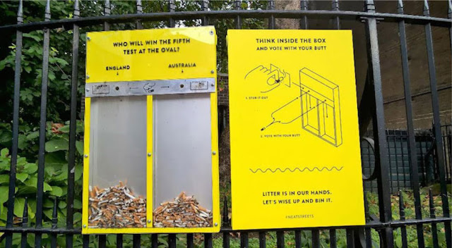 Vote With Your Butt - Uk's Genius Idea To Stop People From Littering Cigarettes and Gum