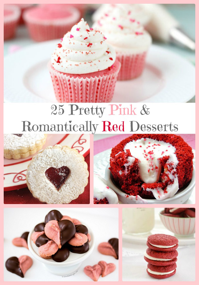 25 Pretty Pink and Romantically Red Valentine's Desserts | Cooking on the Front Burner
