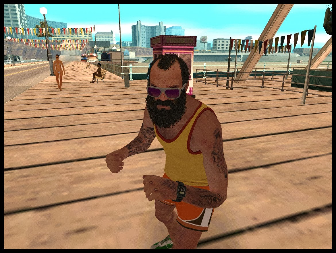 GTA SA - Skin Do Trevor Com Roupa De Calor Do GTA V
