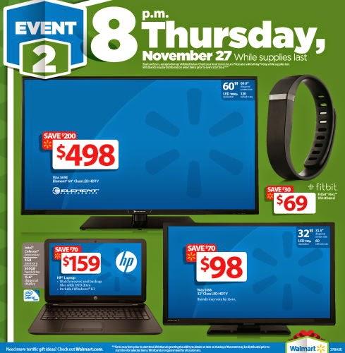 Walmart 2014 Black Friday Flyer - Electronics