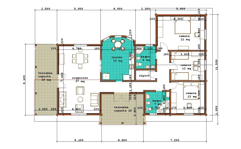 Progetti di case in legno doina 147t35 for Progetti contemporanei di case a pianta aperta