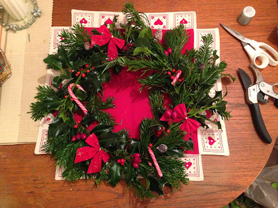 homemade christmas wreath tutorial, instructions