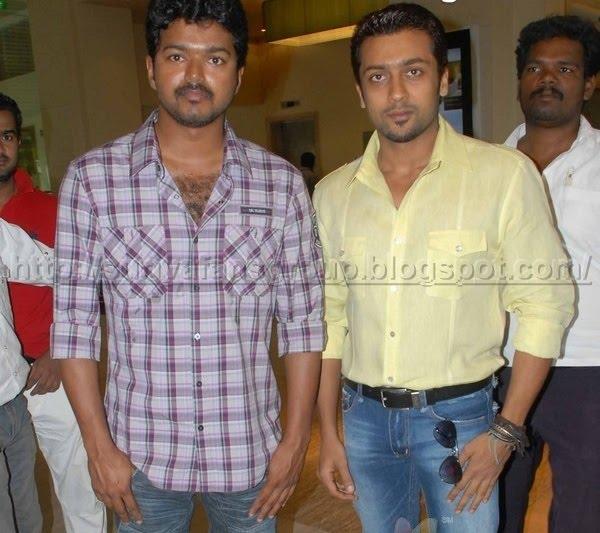 Surya And Vijay Stills Surya and vijay and suriya