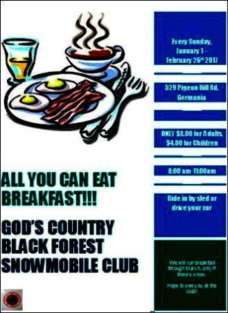 2-26 Sundays, All You Can Eat Breakfast