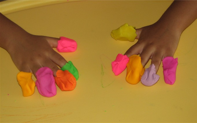 play dough nest