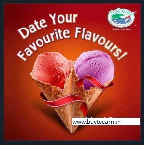 Groupon : Buy Natural Ice Cream 1 Scoop Rs. 14 [Mumbai only]