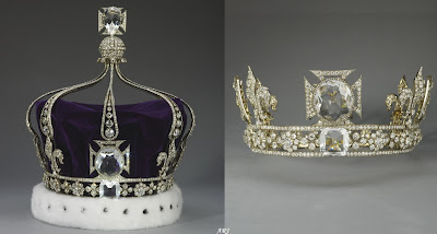 Queen Mary's Crown and its detachable Coronet set with Cullinans III and IV