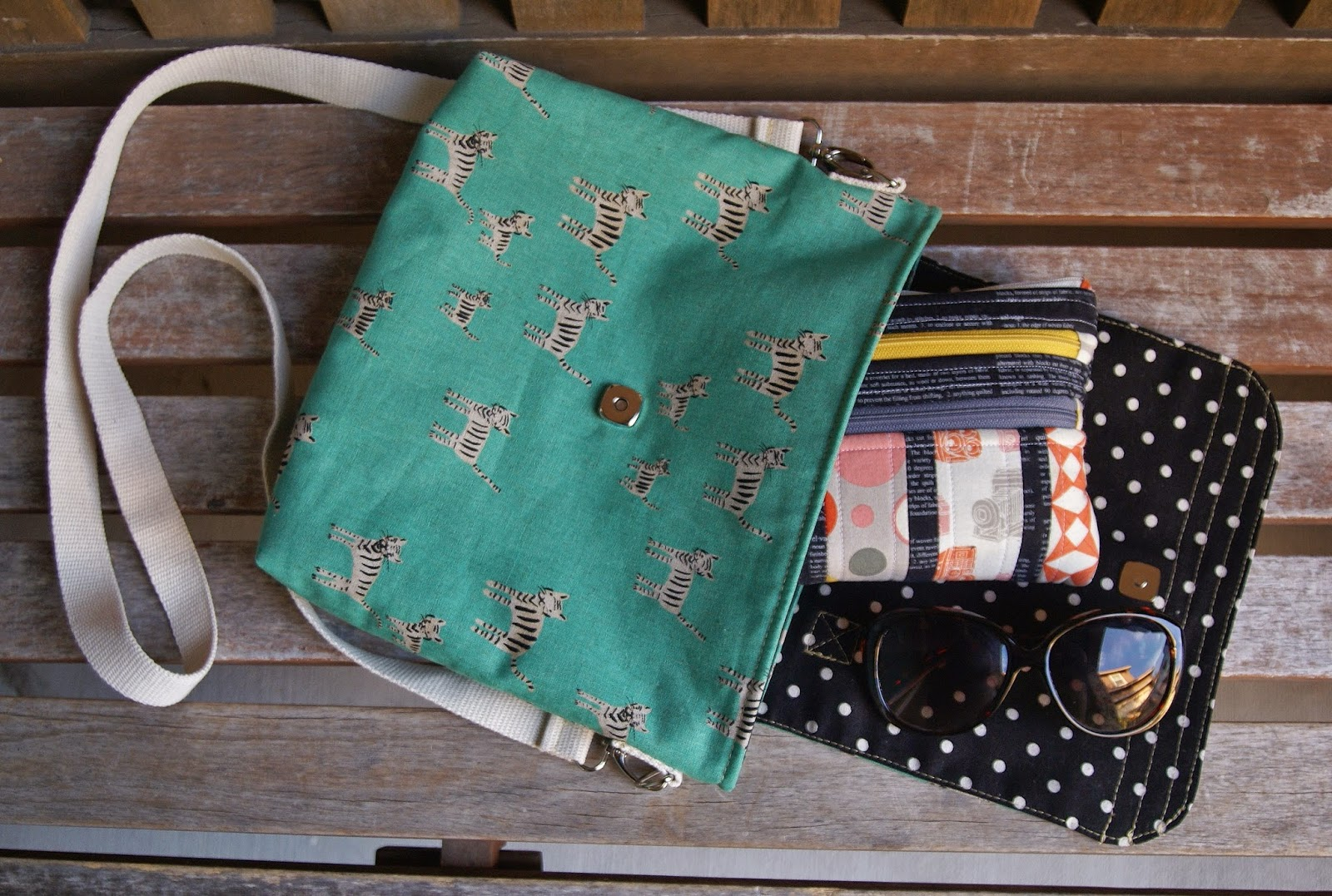 Cotton + Steel Tiger Tracks Satchel by Heidi Staples of Fabric Mutt