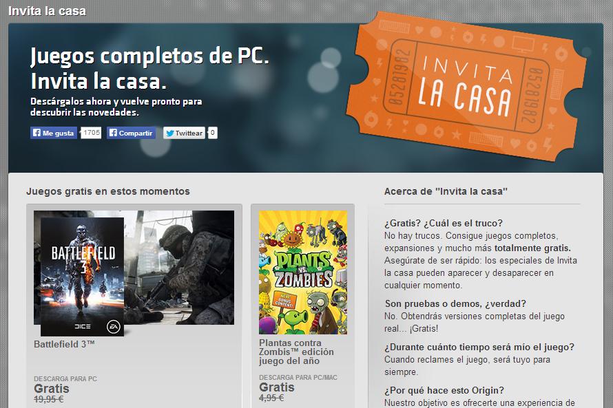 Origin regala dos juegos para PC por un tiempo limitado.