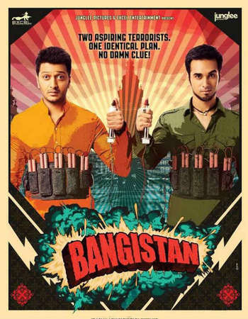Poster Of Bangistan 2015 Hindi  300MB  720p  HEVC Watch Online Free Download Worldfree4u