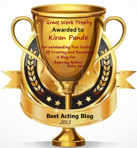 Best Online Acting Blog Award