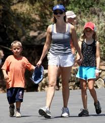 actress reese witherspoon with her kids