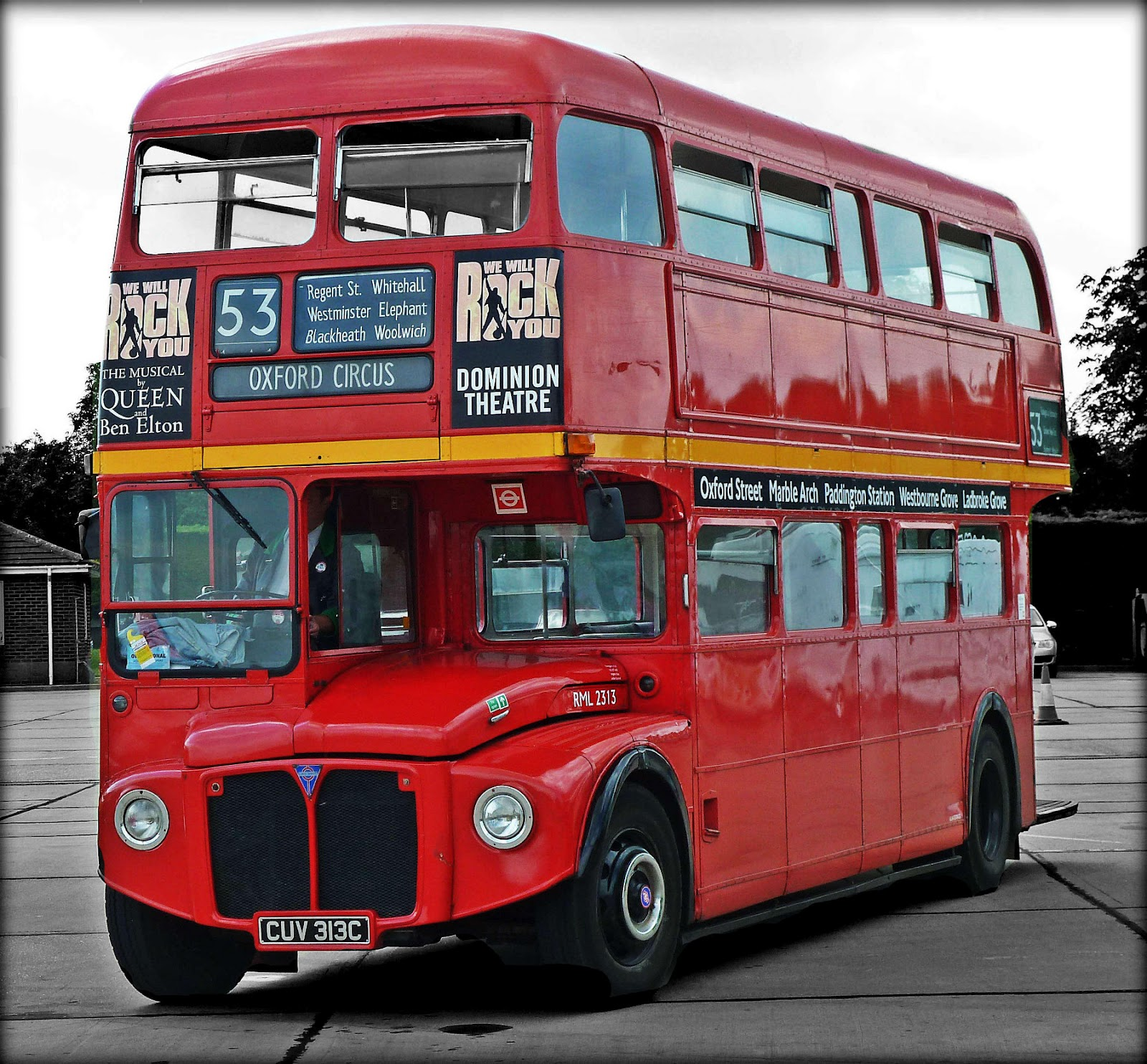 Old double decker London bus – Stock Editorial Photo ...
