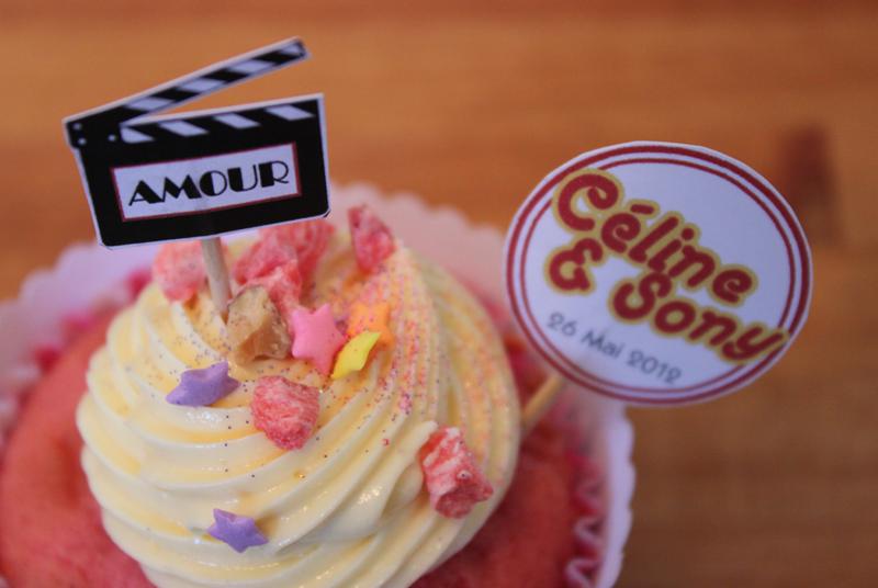 cupcake et cupcake toppers thème cinéma