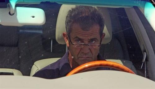 Mel Gibson driving