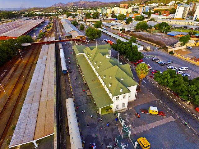 Namibia   Windhoek railway station aerial photo gallery