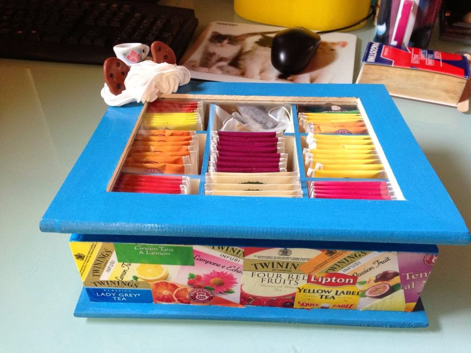 Makeupyourhome scatola da te 39 tea box - Porta tisane fai da te ...
