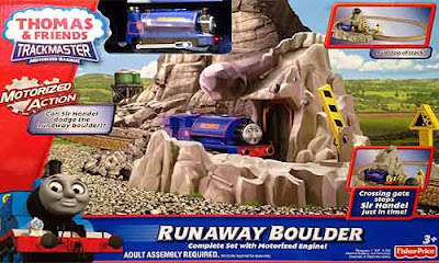 Fisher Price model railway Thomas and friends Blue Mountain Mystery toy TrackMaster Runaway Boulders