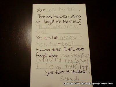 Awesome Thank You Letter To Teacher From Student Contemporary